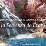 La cascada que cae al océano atlántico en Galicia
