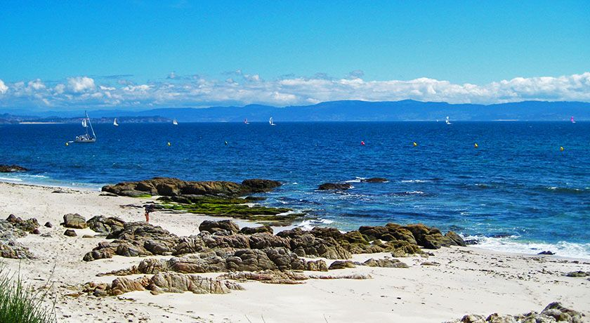Playa de Melide en la Isla de Ons