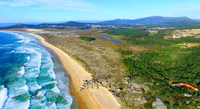 Vista Aerea playa de Corrubedo