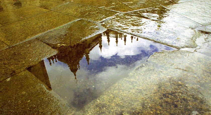 Reflejo lluvia Santiago de Compostela