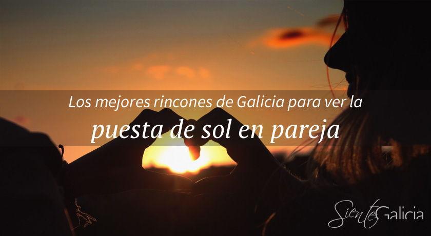 Atardecer romantico en Galicia